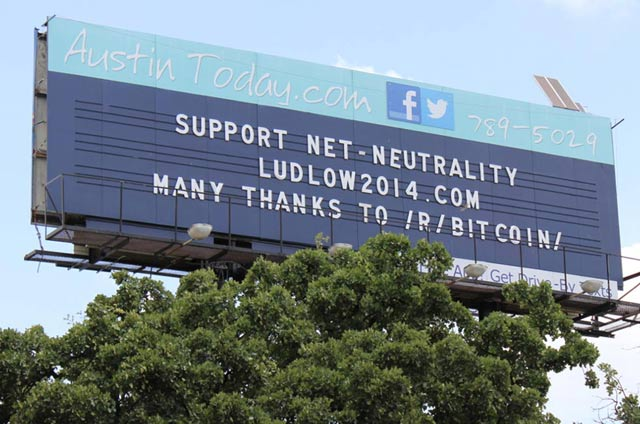 Net Neutrality Billboard